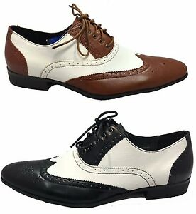 New-Fashionable-Men-039-s-Boys-Two-Tone-Color-Lace-Up-Shoes-Sizes-6-7-8-9-10-11