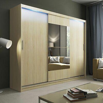 Wardrobe Sliding Doors Alano 1 Aa Mirror Led Lights