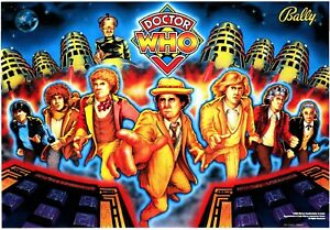 Bally Dr Who Pinball Machine Translite