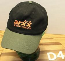 ARXX BUILDING PRODUCTS HAT BLACK & GREEN ADJUSTABLE MADE IN CANADA VGC