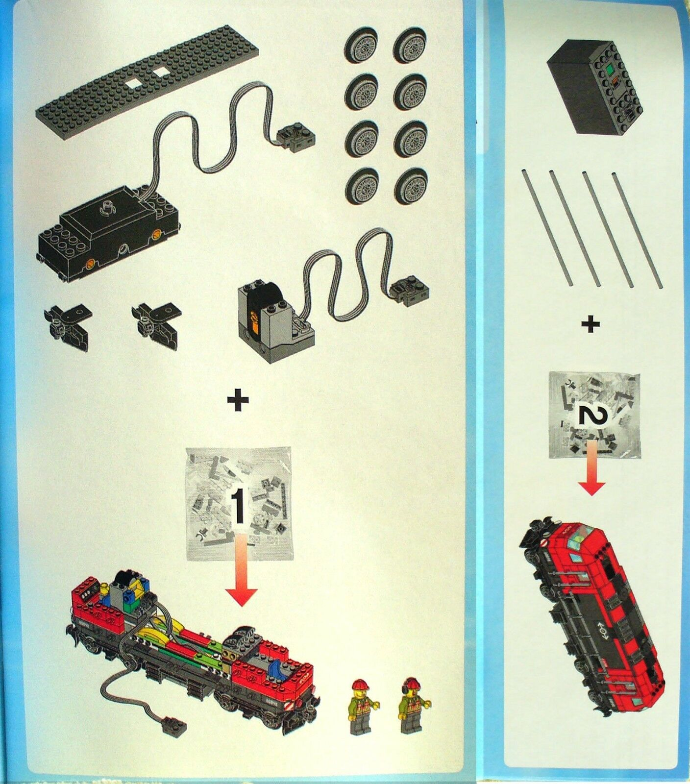 Lego Heavy-Haul Train 60098 BOOK 1 only Diesel Engine Engine Engine Locomotive+Power Functions 4c8fe5