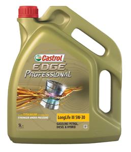 CASTROL EDGE PROFESSIONAL LONGLIFE 5W-30 VW50400/VW50700 **NEW 5 L BOTTLE**