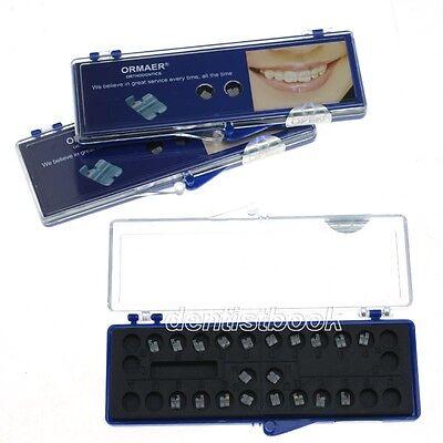 3 Boxes Dental Use Orthodontic Ceramic Bracket Braces 5*5 Roth 018 3 4 5 hooks