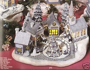 Ceramic-Bisque-Christmas-Village-Scene-Scioto-Mold-527-U-Paint-Ready-To-Paint