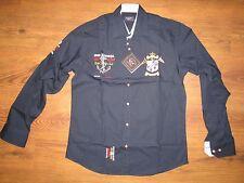 brand new men PAUL & SHARK long sleeve dark blue/navy shirt size M