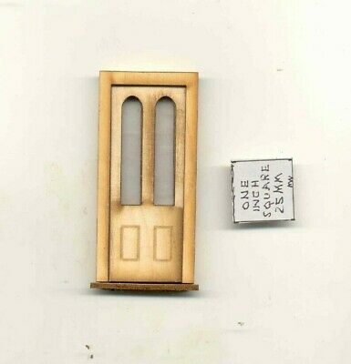 Half Scale Interior Door 23011HS dollhouse wooded miniature 1//24 scale USA
