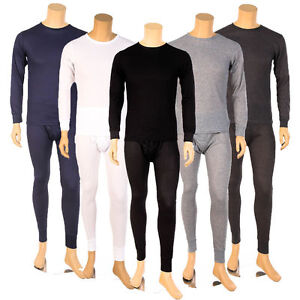 Mens-2PC-Thermal-Underwear-Set-Top-Bottom-Long-John-Waffle-New-Johns-Pants-New