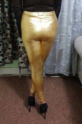 High Waist Disco Pants Women/'s Ladies Girls Sparkling Legging Silver Leggings