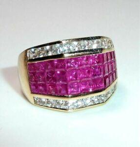 585 Gold Ring - Pinke und weiße Saphire Gr. 56-57 änderbar Gew. 8,0 g Ivens IV