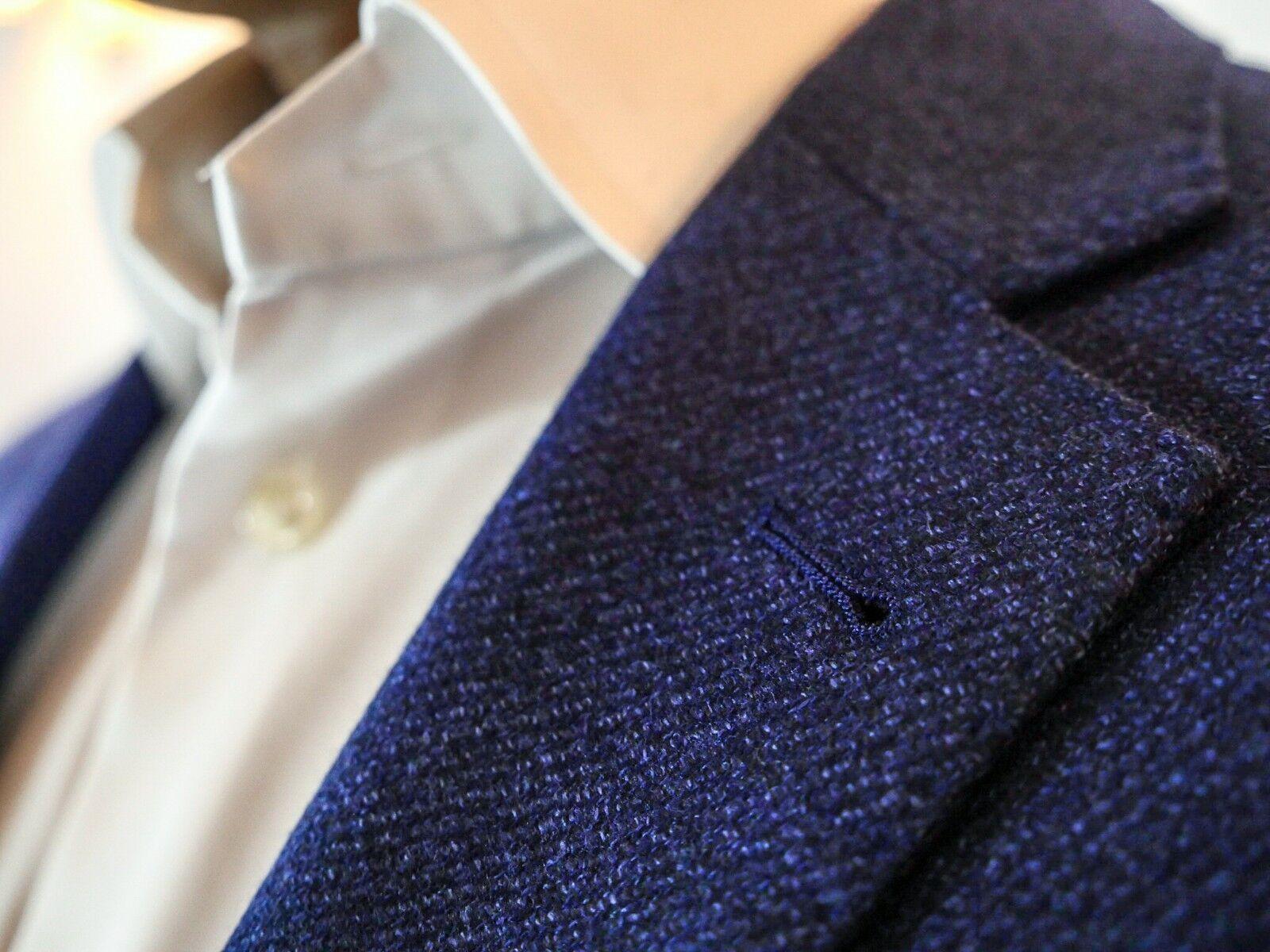 Blauer SakkoObermatierial100% Extra Fine Wool Super 120Dream Tweed Größe 50     Gute Qualität    Große Klassifizierung    Gemäßigten Kosten