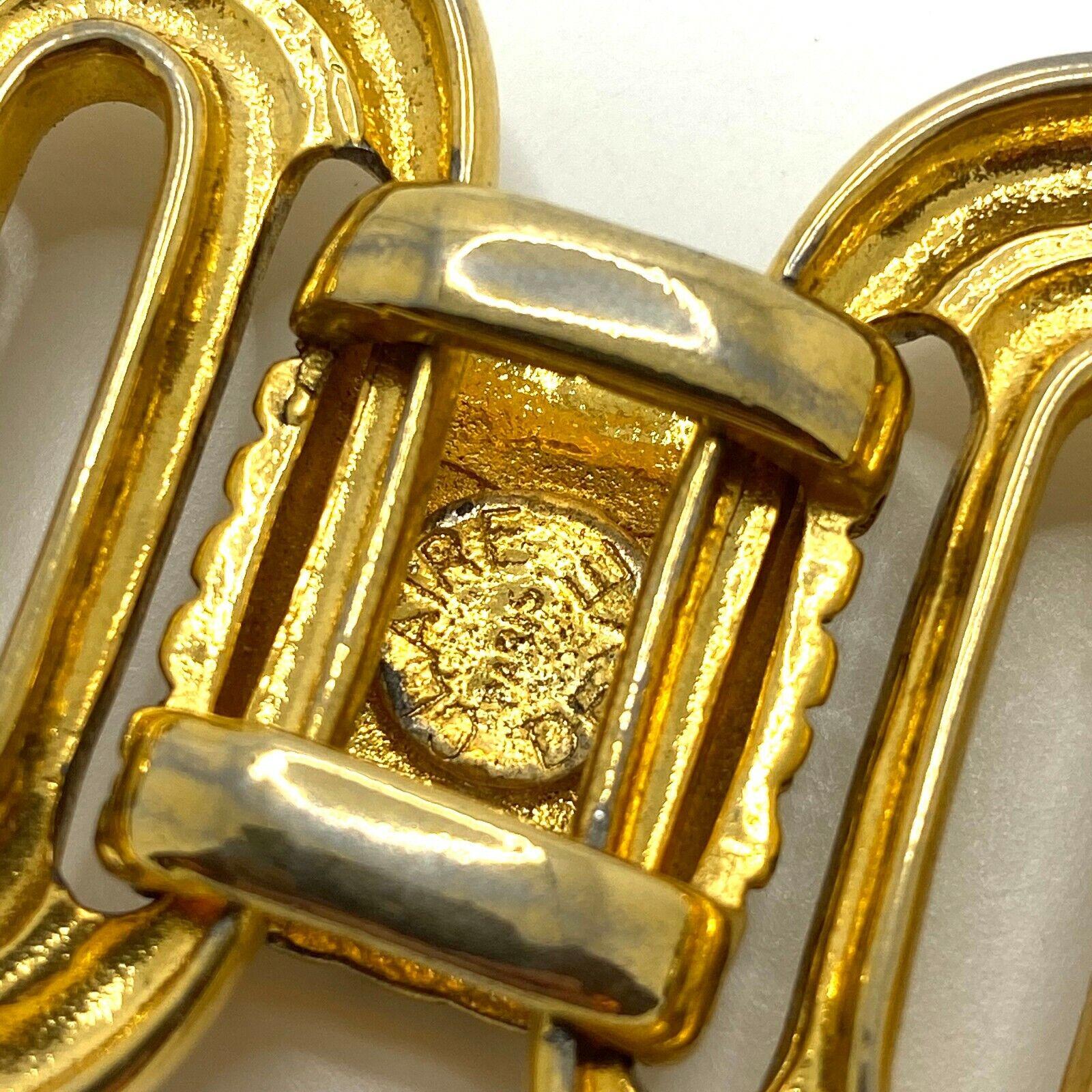 Vintage Claire Deve Paris Bracelet Signed Chunky … - image 5
