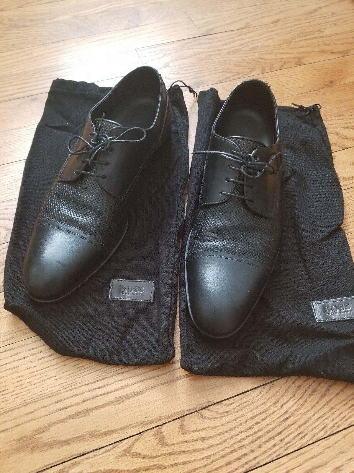 Zapatos De Vestir HUGO BOSS entiende Broders, EE. UU. 7.5 Negro