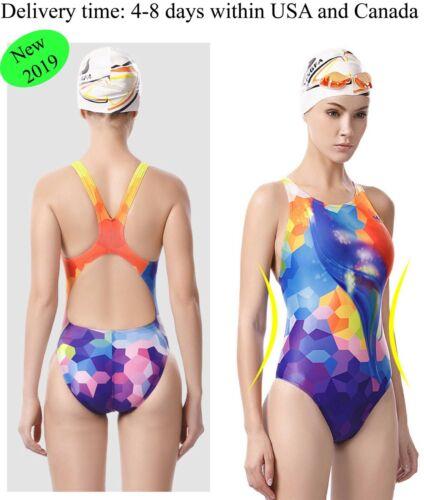 One piece racing swimsuit training swimsuit women and girls swimsuit Yingfa 655