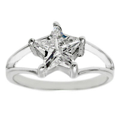 925 Sterling Silver 0.21 Carat CZ Mother Mary Heart Ring Size 5-8