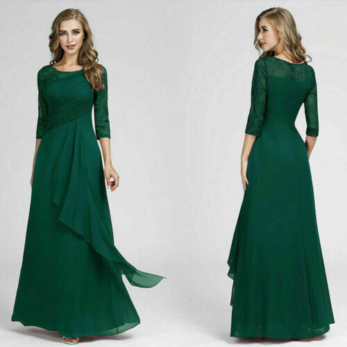 Elegant Green Formal Party Gown Mother Of Bride Homecoming Evening Dress 07728