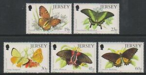 Jersey-1995-Papillons-Ensemble-MNH-Sg-717-21