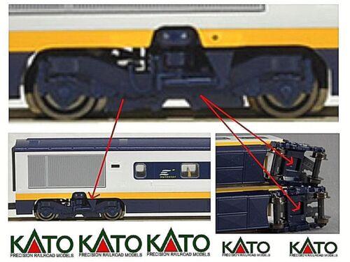KATO N.1 CARRELLO BLUE VAGONE tipo R1 BOGIE WAGON type R1 EUROSTAR SNCF SCALA-N