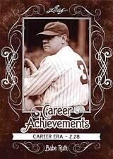 2016 Leaf Babe Ruth Career Achievements #CA04 Career ERA 2.28   New York Yankees