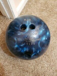 Vintage-Brunswick-Crown-Jewel-Bowling-Ball-13-6-Lb-B011