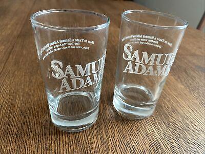 """Samuel Adams 7 oz Beer Tasting Glasses Complete Set of 4 /""""How to Taste/"""" Steps"""