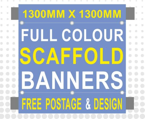 MULTIPLE SIZES PVC PRINTED SCAFFOLDING BANNERS SIGN with pole hems FREE POSTAGE