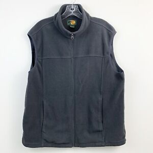 Bass-Pro-Shops-Mens-Gray-Fleece-Zip-Front-Vest-Size-Large