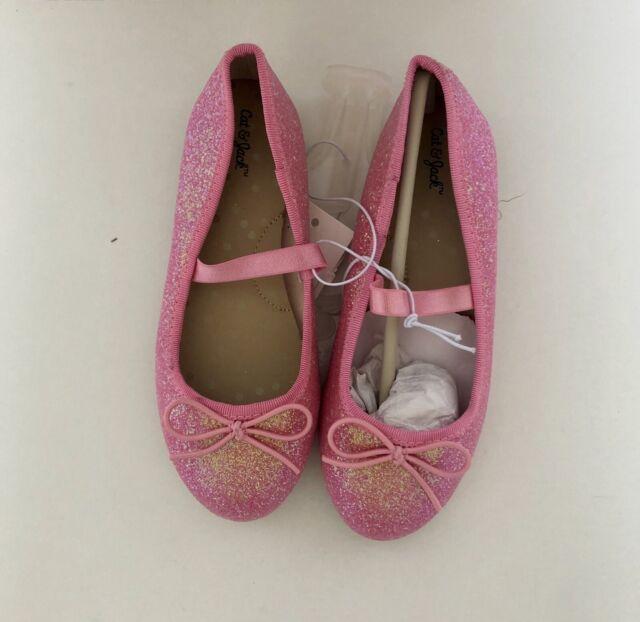 NEW Toddler Girls/' Lily Glitter Ballet Flats Shoes Cat /& Jack™ Black Color