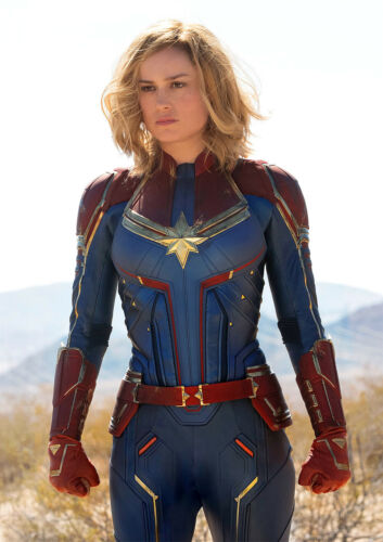 FREE P+P Captain Marvel Poster Brie Larson New 2019 Marvel Film CHOOSE UR SIZE