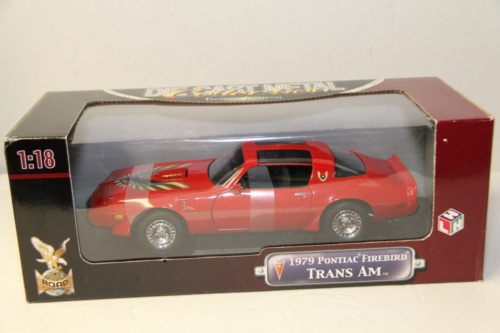 1/18 ROAD SIGNATURE 1979 PONTIAC FIREBIRD TRANS AM , rosso , NEW