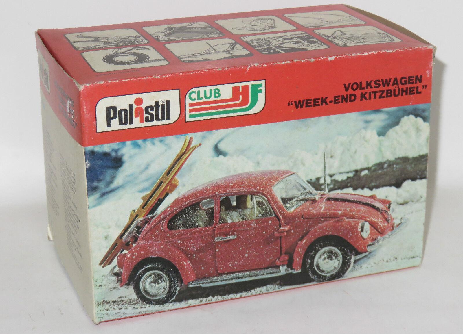 1 25 Original 1970`s Polistil Volkswagen Beetle Snow & Skis - Week-End Kitzbuhel