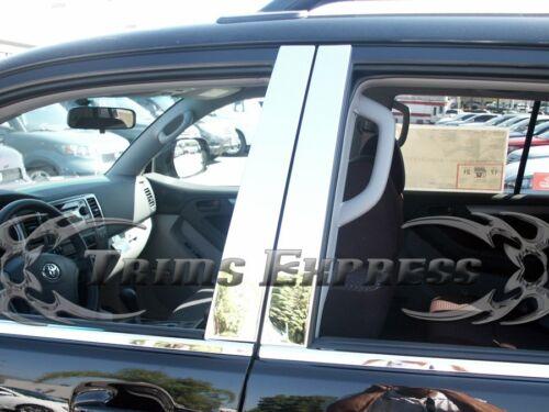 2003-2009 Toyota 4 Runner 4Runner 4Pc Chrome Pillar Post Stainless Steel Trim