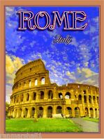 Rome Italy The Coliseum Italian Europe European Art Travel Advertisement Poster