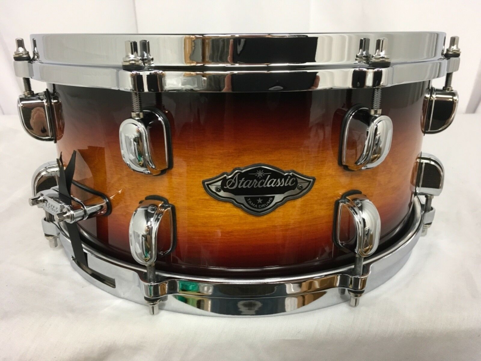 Tama Starclassic Birch Bubinga 13  X 6  Snare Drum Tri-Burst Tobacco New