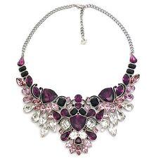 Swarovski Necklace Impulse 38cm Large Palladium Crystals Black Epoxy 5152821 BIB