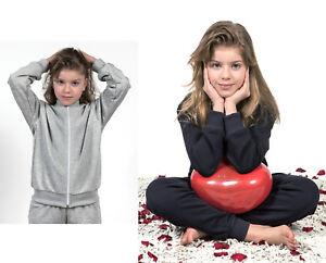 Felpa-Top-Tuta-Scuola-Sport-Unisex-Child-School-Cotton-Jacket-FT01K-MR