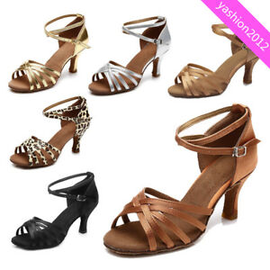 Brand-New-Women-039-s-Ballroom-Latin-Tango-Dance-Shoes-heeled-Salsa-6-Colors-213-S
