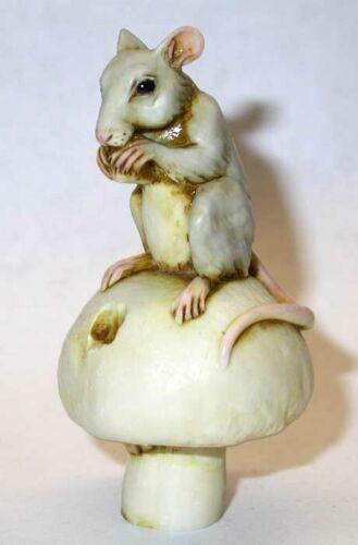 Harmony Kingdom Artist Neil Eyre Designs mouse mice mushroom nibbling