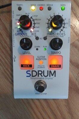 digitech sdrum strummable drums guitar effects pedal auto drum machine new w box ebay. Black Bedroom Furniture Sets. Home Design Ideas