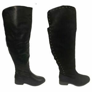 Ladies Black Extra Wide Fit Calf Long