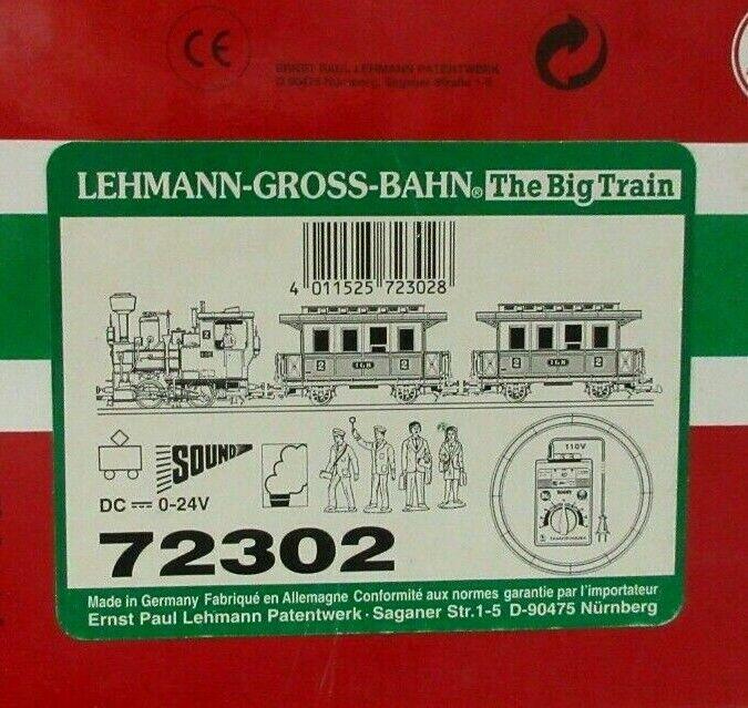 Lgb 72302, paquete de pasajeros con con con sonido y humo. a12