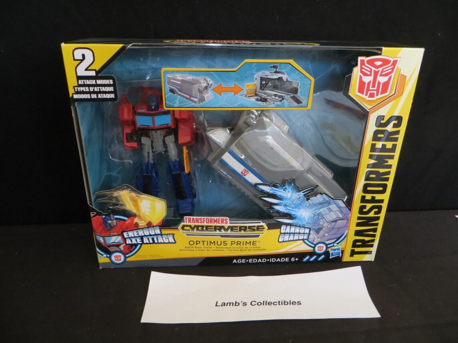 Transformers Cyberverse Optimus Prime 5 1 2  with Battle Base trailer Hasbro