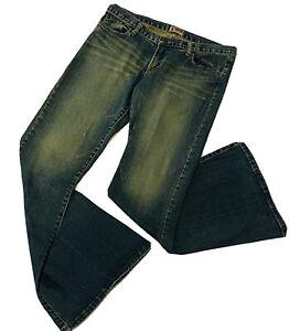 Lee-BUMSTER-SUPERFLARE-Sz-13-Stretch-Denim-Jeans