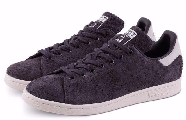 Adidas Originals Stan Gamuza S82249 Utilidad Negro Entrenadores Smith