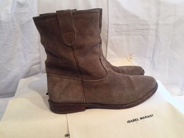 Isabel Marant Etoile SZ FR 37/US 7 Taupe Ankle Gray JENNY Suede Ankle Taupe Stiefel Booties 3807b0