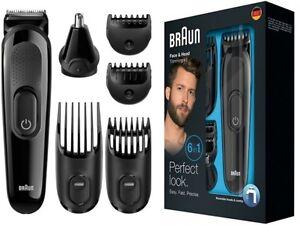 braun men multi grooming kit 6 in 1 beard head body nose nasal face hair trimmer ebay. Black Bedroom Furniture Sets. Home Design Ideas