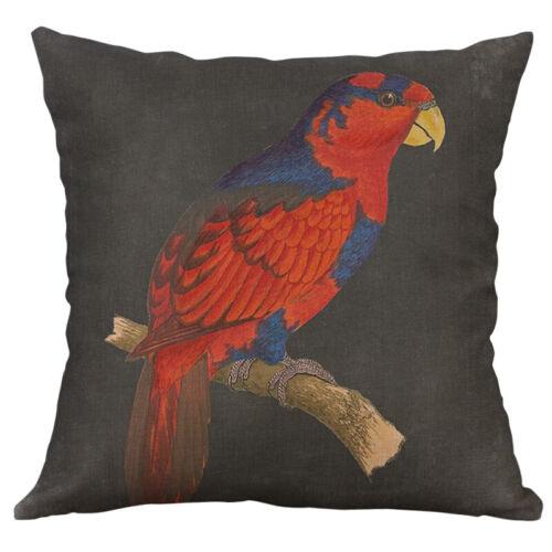 Bird Parrot Pillow Case Sofa Car Waist Throw Cushion Cover Home Decoration