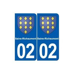 02 Sains-richaumont Blason Ville Autocollant Plaque Sticker - Angles : Arrondis Amener Plus De Commodité Aux Gens Dans Leur Vie Quotidienne