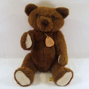 ELEGANTE-DAKIN-1983-Articulated-Brown-Teddy-Bear-Swivel-Head-Handcrafted-USA-19-034