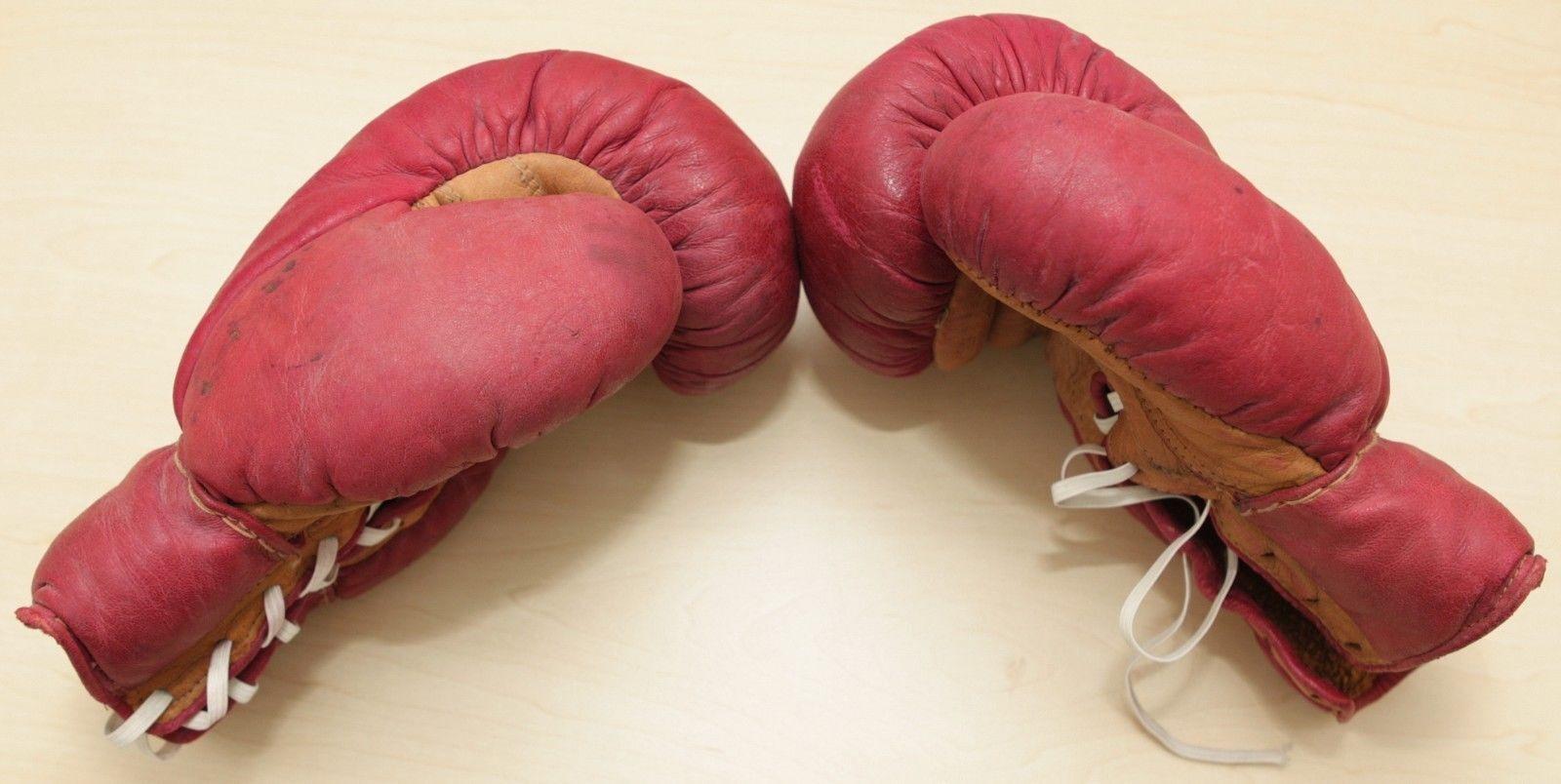 Boxen Handschuhe Handschuhe Handschuhe Boxhandschuhe um Jahr 1950 4bd822