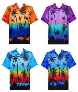a5013a5f Hawaiian Casual Shirt Men's Allover Coconut Tree Print Beach Aloha ...